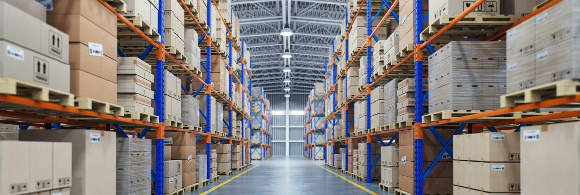 warehouse-or-storage-and-shelves-with-cardboard-bo-68TUFMR.jpg